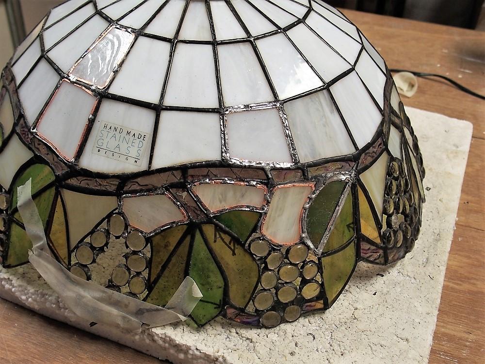 Antieke Tiffany Lampen : Restauratie tiffany lamp lichtinzicht